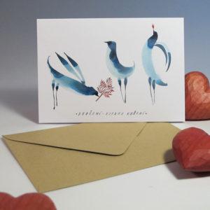 Přací karta ilustrace Tereza Cerhová Dvoření