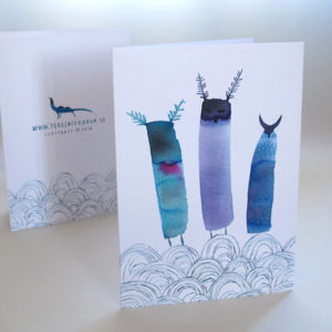 Přací karta ilustrace Tři přání