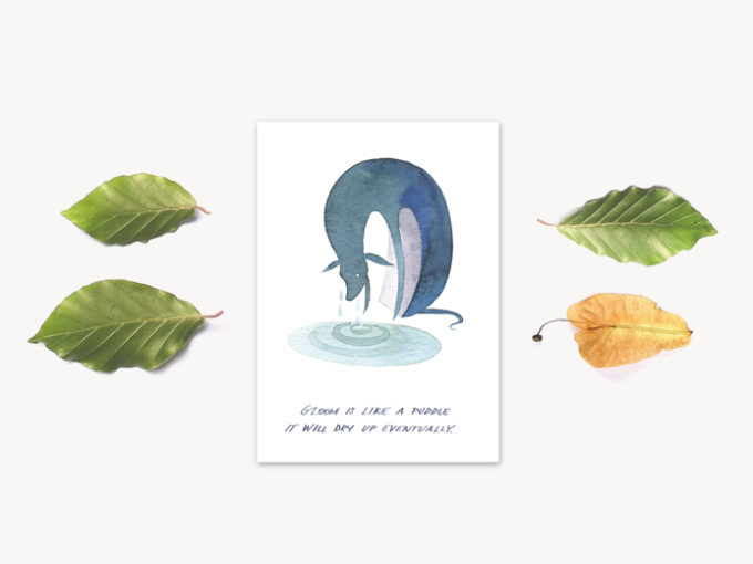 Tereza-Cerhova-original-card-gloom-is-like-a-puddle