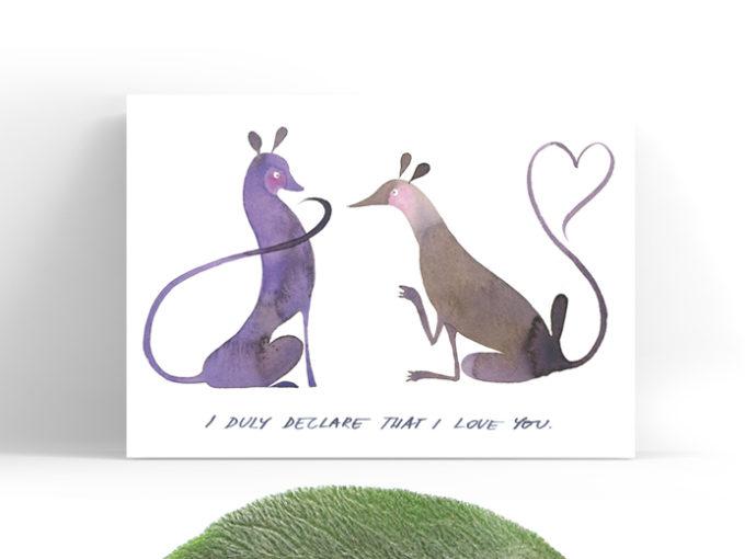 Tereza-Cerhova-original-greeting-card-I-duly-declare-that-I-love-you