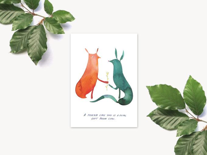 Tereza-Cerhova-original-illustrated-greeting-card-friend-like-you
