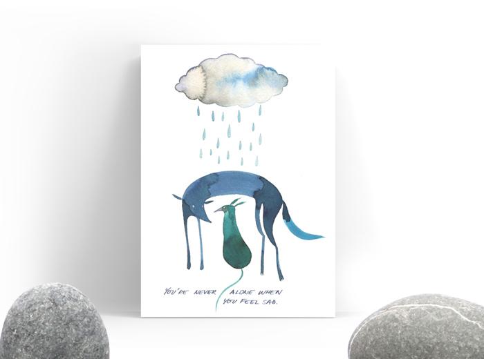 Tereza-Cerhova-original-illustration-you-are-never-alone
