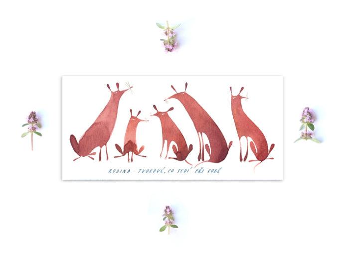 Tereza-Cerhova-originalni-ilustrace-rodina-tvorove-co-sedi