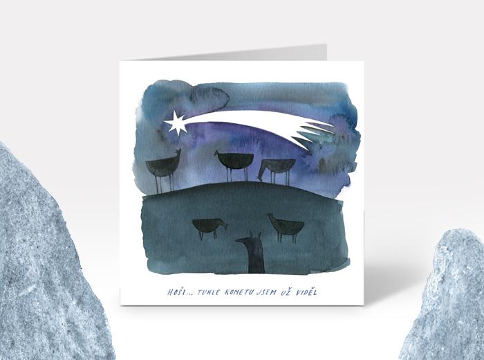 Tereza-Cerhova-vanocni-ilustrace-hosi-tuhle-kometu-jsem-uz-videl